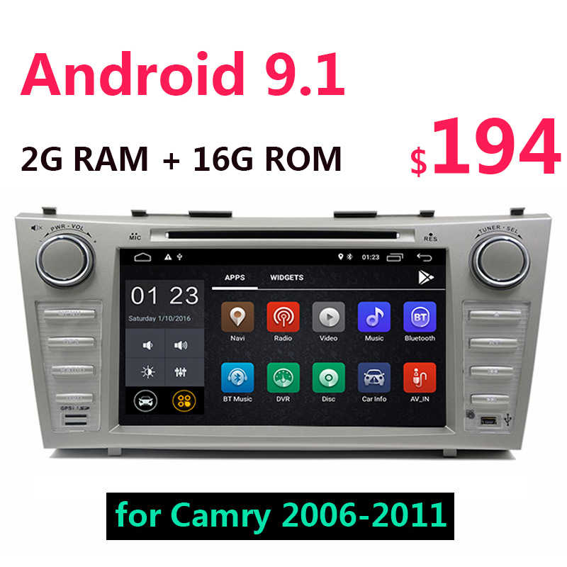 2G + 16G Android 9,1 coche Multimedia DVD reproductor de CD 8 pulgadas GPS Auto Radio WiFi 2 din USB para Toyota Camry 40 50 2006-2011 47