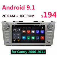 2G+16G Android 9.1 Car Multimedia DVD CD Player 8 inch GPS Auto Radio WiFi 2 din USB for Toyota Camry 40 50 2006 2011 47