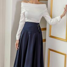 2 Pieces Set Suits Women Elegant Sexy Autumn off shoulder Shirt Top Sh