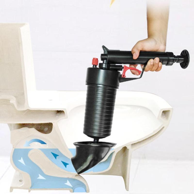 Air Power Drain Blaster gun High Pressure Powerful Manual sink Plunger Opener cleaner pump for Bath Toilets