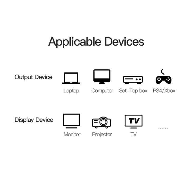 HDMI Vention 2.0 3D כבל קלאסי צבעים ופשוט עמיד עיצוב 4K HD מתאם אודיו וידאו כבל עבור LCD HDTV מקרן