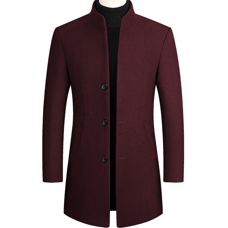Autumn Winter Men Wool Coat Blends Coats New Solid Color High Quality Casual Men Jacket Wool Jacket Luxurious Brand Men Clothing