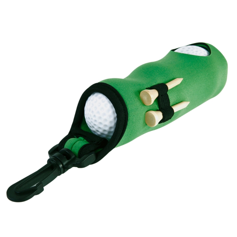 Neoprene Golf Ball Bag Holder Carrying Storage Swivel Belt Clip Waist Pouch Gift PXPF