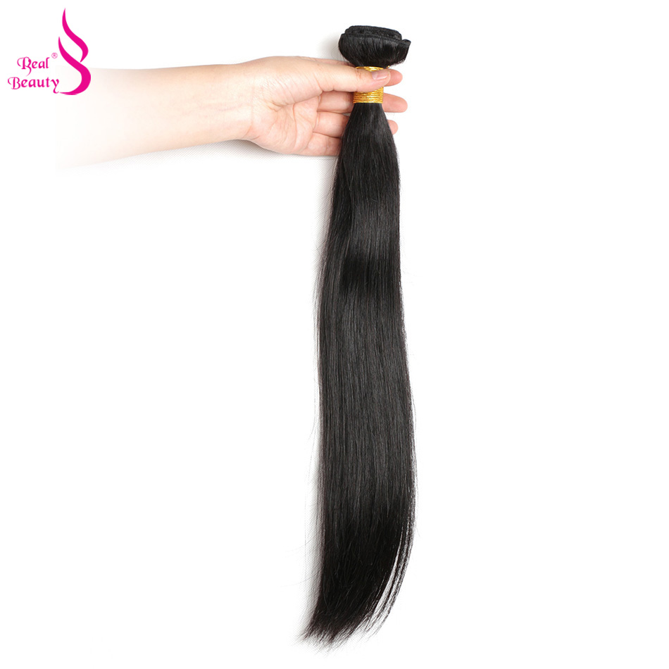 Real Beauty Peruvian Straight Hair 100% Human Hair Bundles Non-Remy Hair Extension Natural Color Can Buy 3 Or 4 Bundles