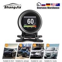 AUTOOL X60 HUD Head Up Display Car OBD Digital Meter Alarm Speed Water Temp Digital Oil Temperature Gauge Pressure Gauge