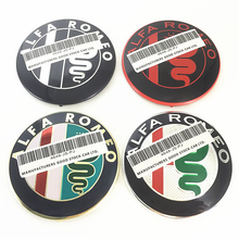 2 uds. De accesorios de estilo de coche para Alfa Romeo, capó de cabeza de coche, capó delantero, trasero, parachoques trasero, emblema de maletero, insignia de logotipo