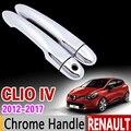 Für Renault Clio IV 2012-2017 Chrom Griff Abdeckung Trim Set Clio 4 MK4 2013 2014 2015 2016 Auto zubehör Aufkleber Auto Styling