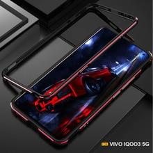 עבור Vivo IQOO 3 מקרה מט בצבע מתכת מקרה עבור Vivo IQOO 3 5G אלומיניום פגוש מבריק מגן כיסוי מסגרת קאפה I1928 I1927