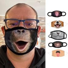 Adulte hommes femmes à la mode masque facial modèle lavable réutilisable coton bouche masques drôle en plein air masque
