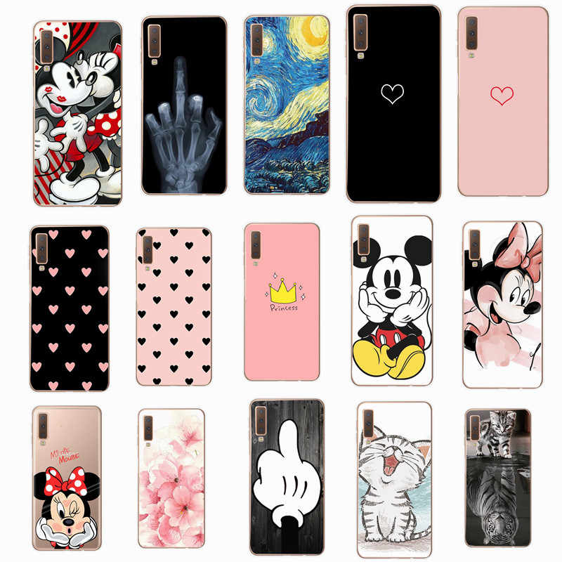 Case For Samsung A10 Case Soft Silicone Back Cover Phone Case For Samsung Galaxy A10S A50 A30 S10 Plus A7 J4 J6 J8 2018 cartoon