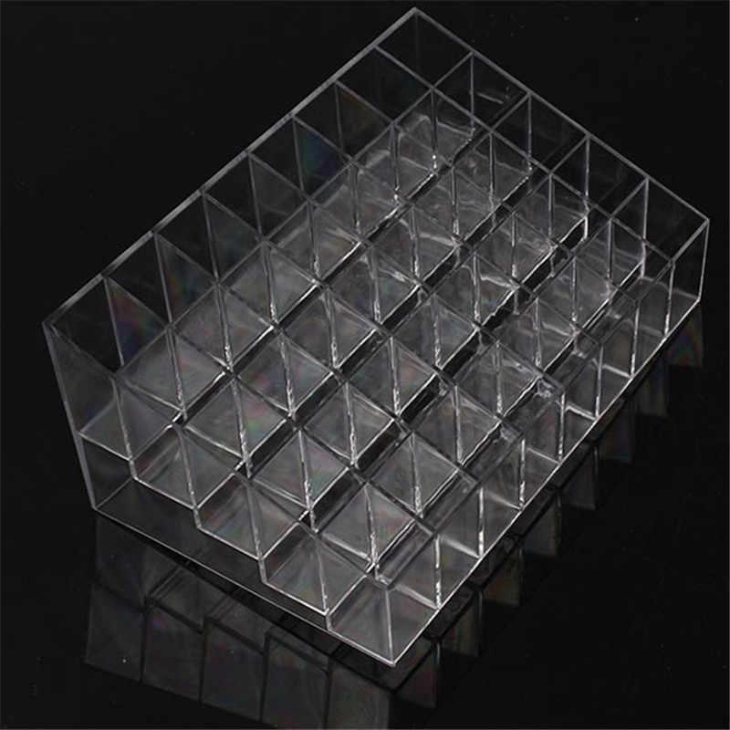 40 Mạng Tinh Thể Hình Thang Nhựa Trang Điểm Trong Suốt Hiển Thị Giá Son Môi Giá Đỡ Đựng Mỹ Phẩm Nhà Tổ Chức Giá Đỡ Hộp Cao Cấp