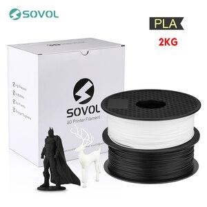Image 1 - 2KG/lot Sovol 3D Printer Filament 1.75mm PLA Filament 3D Printing Pen Material Dimensional Accuracy +/  0.02mm Impresora 3D
