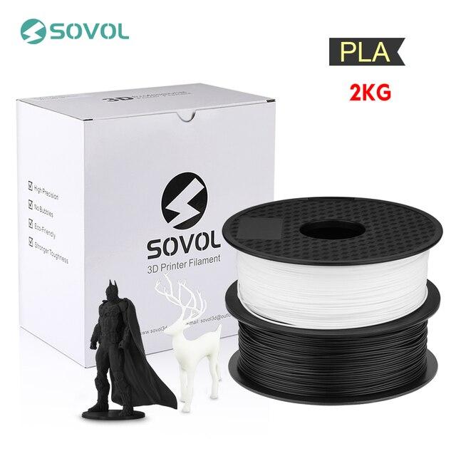 2KG/lot Sovol 3D Printer Filament 1.75mm PLA Filament 3D Printing Pen Material Dimensional Accuracy +/  0.02mm Impresora 3D