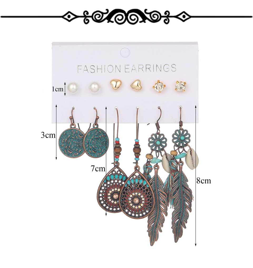 H4bc30eb9e0904b3e9c40757e3d037e67v - Multiple Women's  Boho Ethnic Drop Earrings