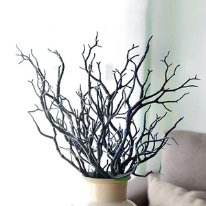 Image 5 - 1pc 35cm Dry Artificial Fake Foliage Plant Tree Branch Wedding Home Church Office Furniture Decoration Peacock Coral Branches
