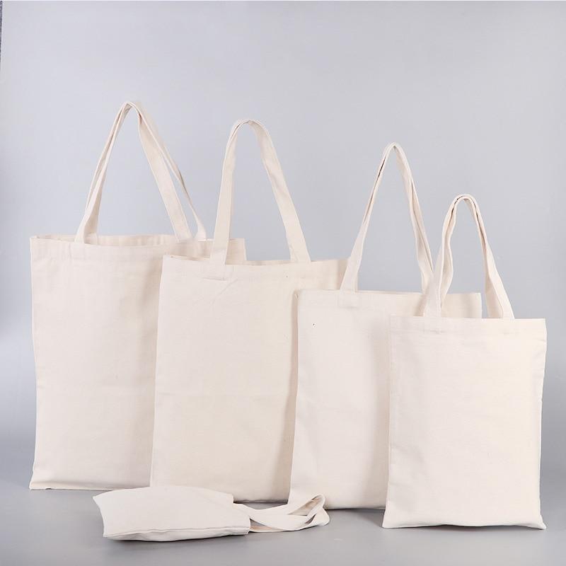 Women Men Handbags Canvas Eco Shopping Bag Casual Daily Use Reusable Shopper Grocery Bags
