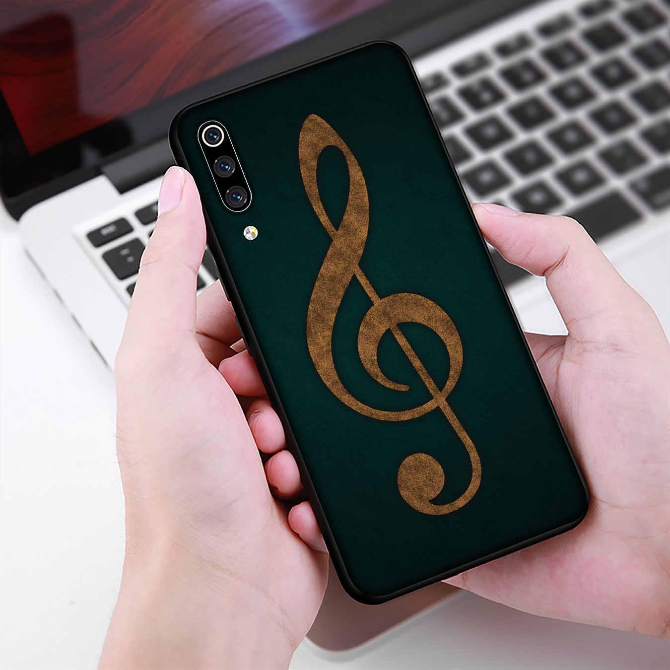 Oude Muzieknoot Muziek Zachte Siliconen Telefoon Case Voor Xiao Mi Mi 10 9 9T A3 Pro 8 Se a2 Lite A1 6 CC9 CC9E Pocophone F1 Mi 10
