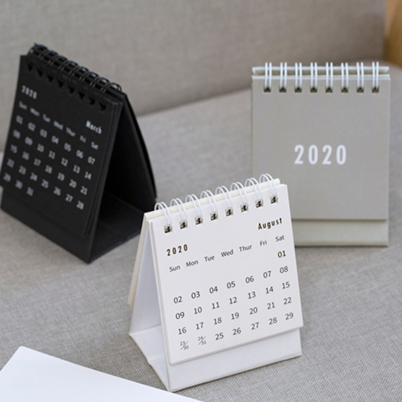2020 Table Calendar Weekly Planner Monthly Plan To Do List Desk Calendar Daily Simple Style Desktop Calendar