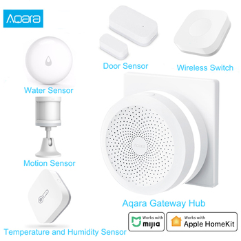 Xiaomi Aqara Smart Home Kits Gateway 3 Aqara Hub Door Window Sensor Human Body Wall Switch Water Sensor Relay Module For MI Home