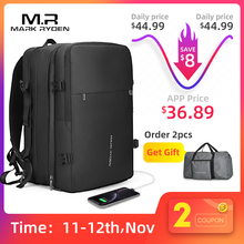 Man Backpack Bag Mochila Laptop Mark-Ryden Anti-Thief Travel 17inch Multi-Layer-Space