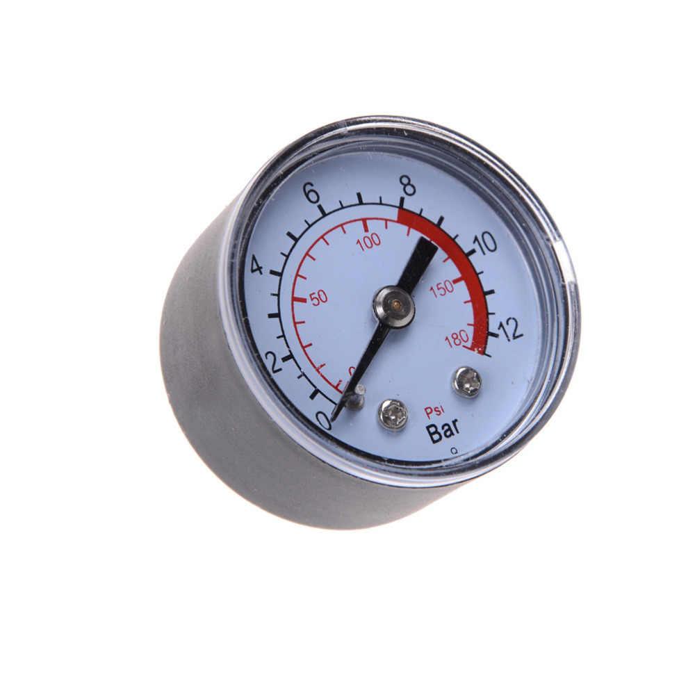 1 compresor de aire Neumático Hidráulico medidor de presión 0-12Bar/0-180PSI