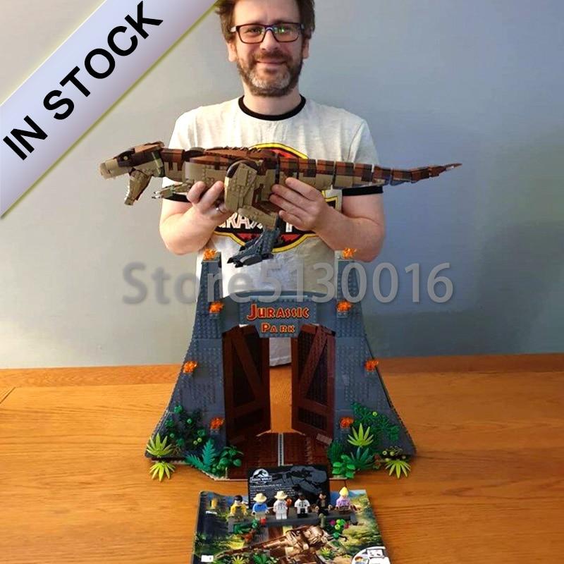 The Jurassic Lepinblocks 11338 World Park Movie Rex Rampage 3120PCS Toys Compatible With 75936 Model Building Blocks Bricks Toys