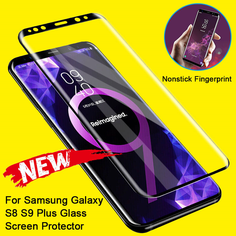 Tempered Glass On For Samsung Galaxy S8 S9 Plus Note 8 9 S7 Screen Protector Curved Edge For Samsung Galaxy S9 Protective Glass