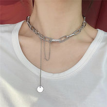Fashion necklace with multi-layer collarbone kettingen voor vrouwen chain collier ras de cou femme cadena hombre