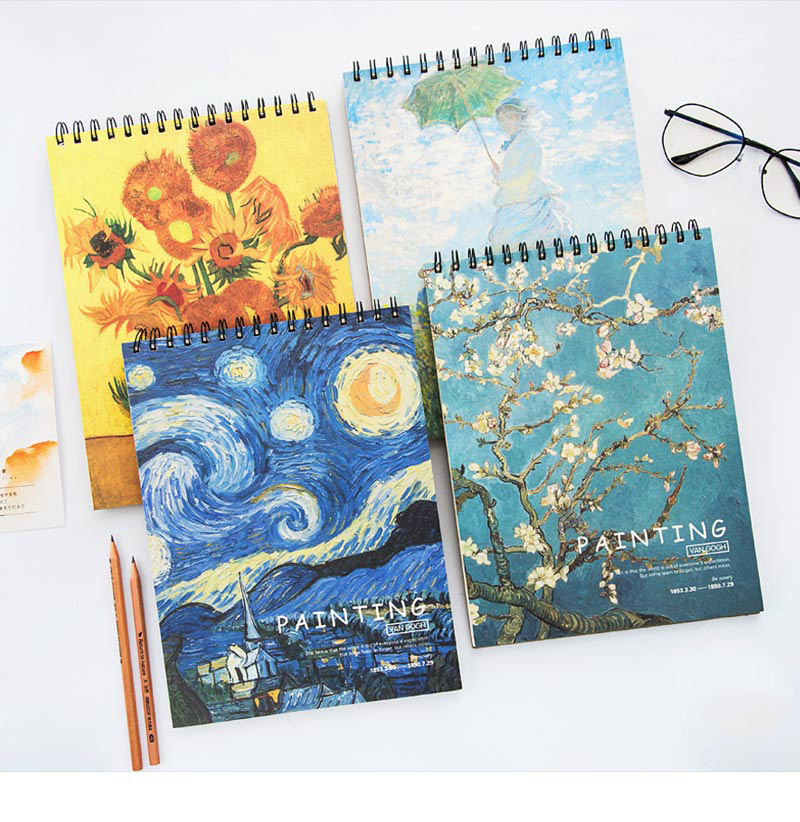 Sketchbook A3/A4 Drawing Paper Students Hand-painted Literary Sketchbooks For Beginners Drawing Books Drawing Paper Art Supplies
