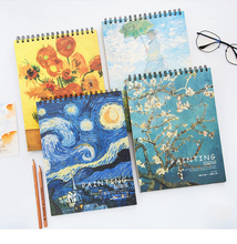 Sketchbook A3/A4 Drawing Paper Students Hand-painted Literary Sketchbooks for Beginners Books Art Supplies