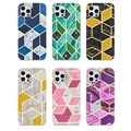 Apple iPhone7/8plus/11pro/12Pro Max mobile phone case stitching IMD glitter electroplating marble iPhone x/xr/xs max