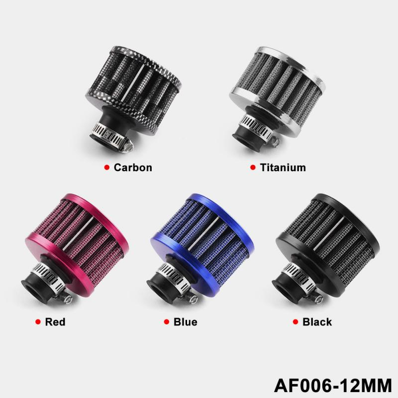 12MM Car Accessories OIL Cold Air Intake Crank Case Turbo Vent Breather Filter Universal Interface Motorcycle Air Filter TSLM2