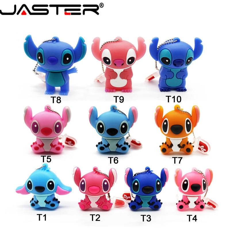 JASTER Stitch USB Flash Drive 64GB 32GB 16GB 8GB 4GB Genuine Cartoon U Disk Cute Thumb