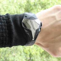 2019 marke herren Uhren Coole Technologie Stil Digitale LED Laufende Timer Uhr Männer Mode Armbanduhren Montre Homme Uhren