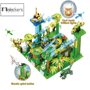 Mailackers Duploed Set Marble Race Run Building Blocks Jurassic Dinosaur Jungle Base Plate Big Block Duploed Toys For Children