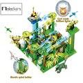 Mailackers Ideen Marmor Rennen Run mit Licht Elektrische Maze Ball Bausteine Jurassic Dinosaurier Park Dschungel Welt Spielzeug Für Kinder