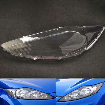 Car Headlamp Lens For Ford Fiesta 2009 2010 2011 2012  Car  Replacement   Auto Shell