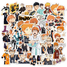 ¡50 Uds Anime tee! Paquete de pegatinas para DIY Laptop móvil maleta para guitarra Skateboard PS4 juguete voleibol adolescente Haikyuu Sticker(China)