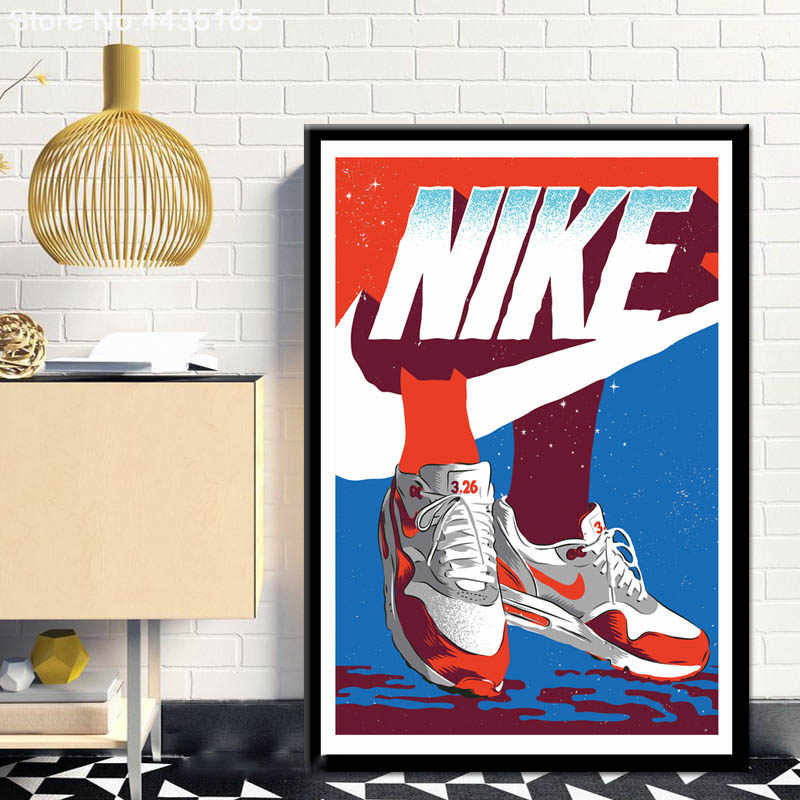 Home Decor Michael Jordan Shoes Poster Air Max Shoes Sneaker Poster and Prints Canvas Painting Wall Art Picture For Living Room