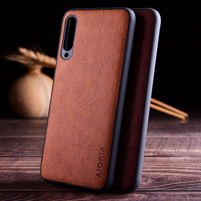 case for <font><b>xiaomi</b></font> <font><b>mi</b></font> <font><b>a3</b></font> a1 a2 lite <font><b>funda</b></font> luxury Vintage Leather skin hard soft cover for <font><b>xiaomi</b></font> <font><b>mi</b></font> <font><b>a3</b></font> a1 a2 lite case coque capa image