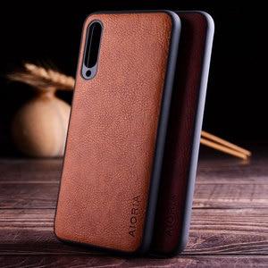 Image 1 - case for xiaomi mi a3 a1 a2 lite funda luxury Vintage Leather skin hard soft cover for xiaomi mi a3 a1 a2 lite case coque capa