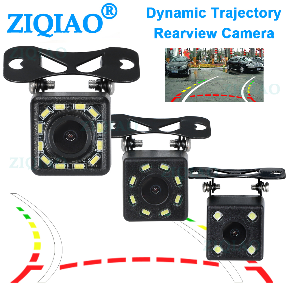 ZIQIAO Car Rear View Reverse Parking Camera HD Universal Dynamic Track Guide Lines Reverse Camera HS069