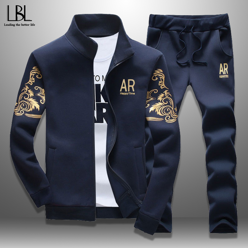 Spring Tracksuits Men Sporting Gyms Mens Set Casual Outfit Sportswear Fitness Men's Clothing Bodybuilding Male Zipper Sweat Suit 1