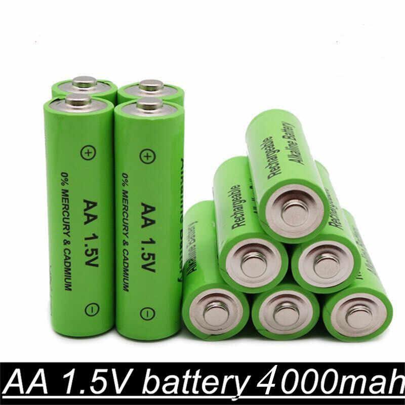 1,5 VAANew Marke AA akku 4000mAh 1,5 V Neue Alkalischer batery für led licht spielzeug mp3 Freies verschiffen