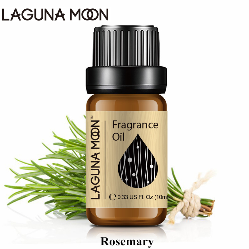 Lagunamoon Rosemary 10ml Fragrance Oil Honeysuckle Japanese Magnolia Black Orchid Plant Oil Flowers Series Aroma Diffuser