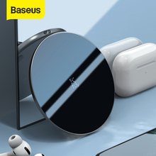 Baseus 15W Qi Fast Wireless Charger Pad For Pods Pods Pro Glass Panel Thin Visible Wireless Phone Charger For iPhone11 X Xs Max