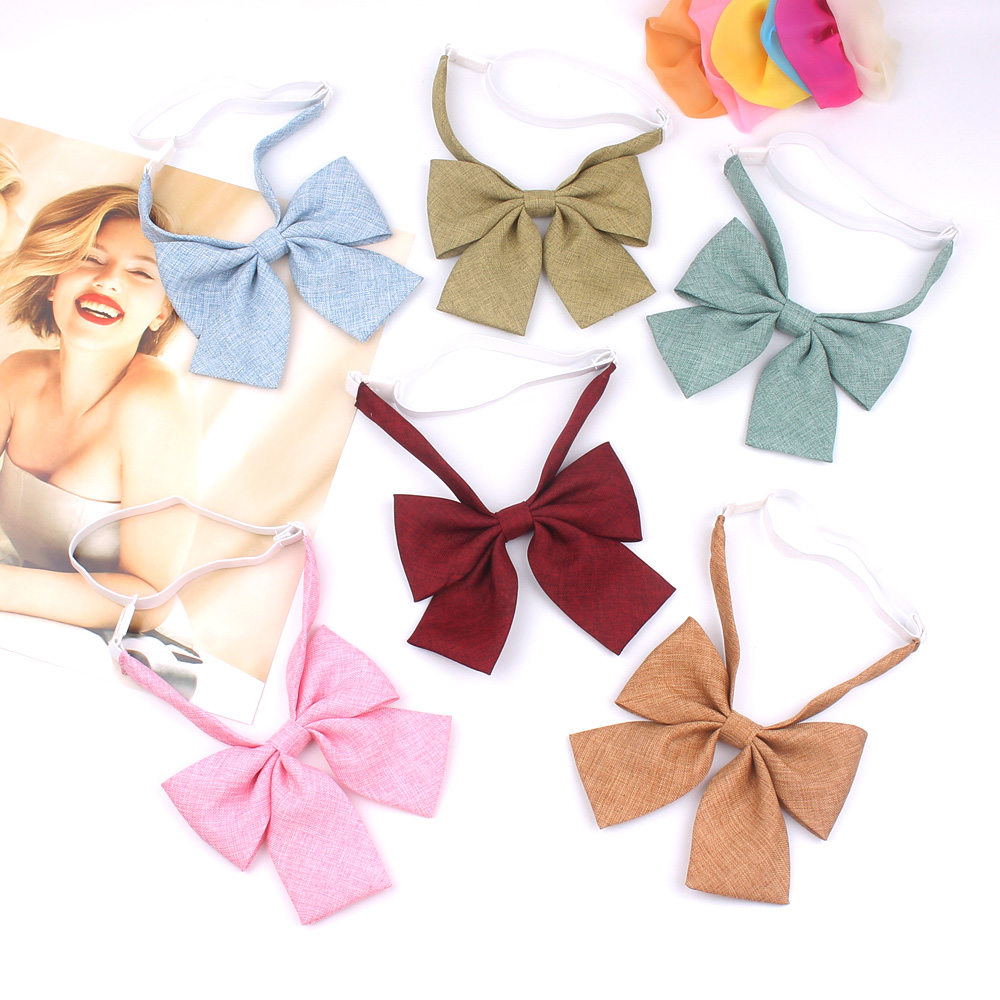 Ladies Bowtie Casual Bow Tie For Women Uniform Collar Butterfly Bow Knot Adult Bow Ties Cravat Children Bowties Shirt Neck Wear