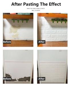 Image 5 - 3D Wall Stickers Imitation Brick Bedroom Decor Waterproof Self adhesive Wallpaper For Living Room Kitchen TV Backdrop Decor70*77