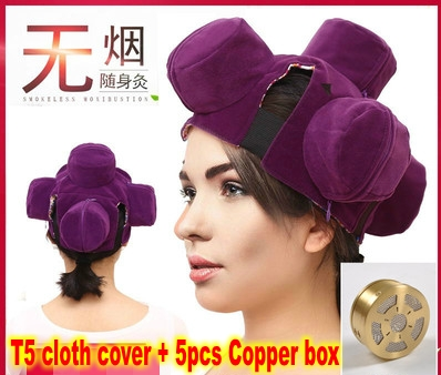 Portable Smoke-free Moxibustion Cloth Set Multi-purpose Clothing Cover Smokeless Cloth Cover Copper Box