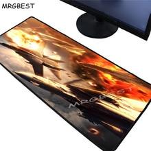 MRGBEST Large Gamer Mouse Pad Precision Black Lock Edge Movie Car and Aircraft Custom Computer Desk Mat Rubber Stripe Non-slip L